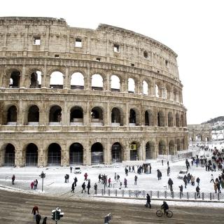 В Италии выпал снег