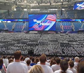 В Петербурге установили мировой рекорд в рамках акции «День гимна»