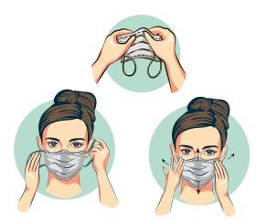 Как правильно носить защитную маску?
